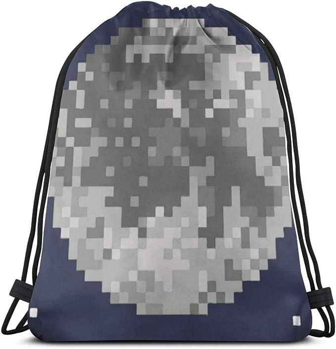 Pixel Art Moon Star - Mochila con cordón para gimnasio, bolsa ...