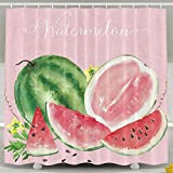 MOLIAN Watermelon Personalize Custom Bathroom Shower Curtain With Rings Waterproof Polyester Fabric 60 X 72 Inch,No Chemical Odor