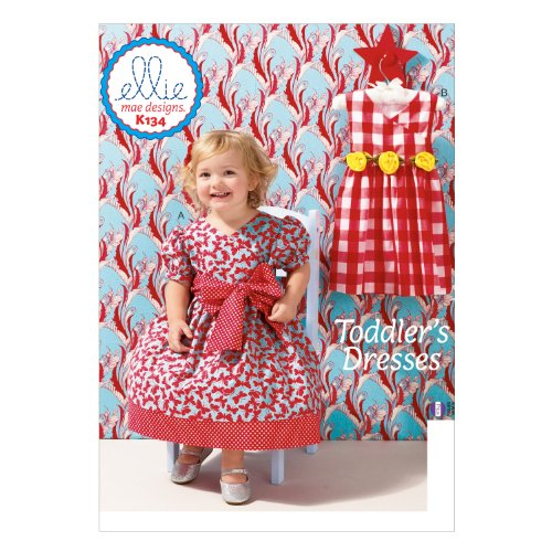 KWIK-SEW PATTERNS K0134OSZ Toddlers' Dress Sewing Template