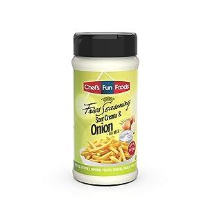 Gourmet Fries Seasonings Bottle Sour Cream & Onion, 9 Ounce