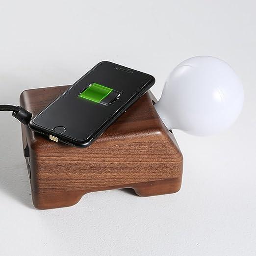 QI Teléfono Móvil Cargador Inalámbrico Lámpara De Escritorio LED ...