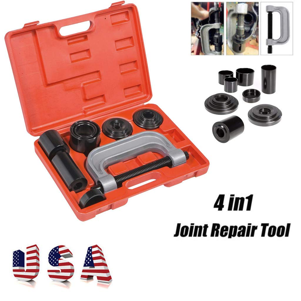 Heavy Duty Ball Joint Press Black 4 in 1 U Joint Removal Tool Kit for 2WD/&4WD Press-fit Removal Installation
