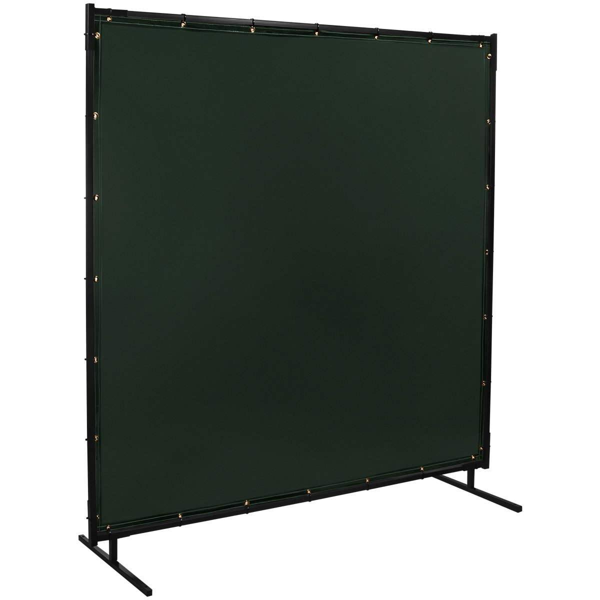 Steiner 533-6X8 Protect-O-Screen Classic Welding Screen with Flame Retardant 14 Mil Tinted Transparent Vinyl Curtain, Green, 6' x 8'