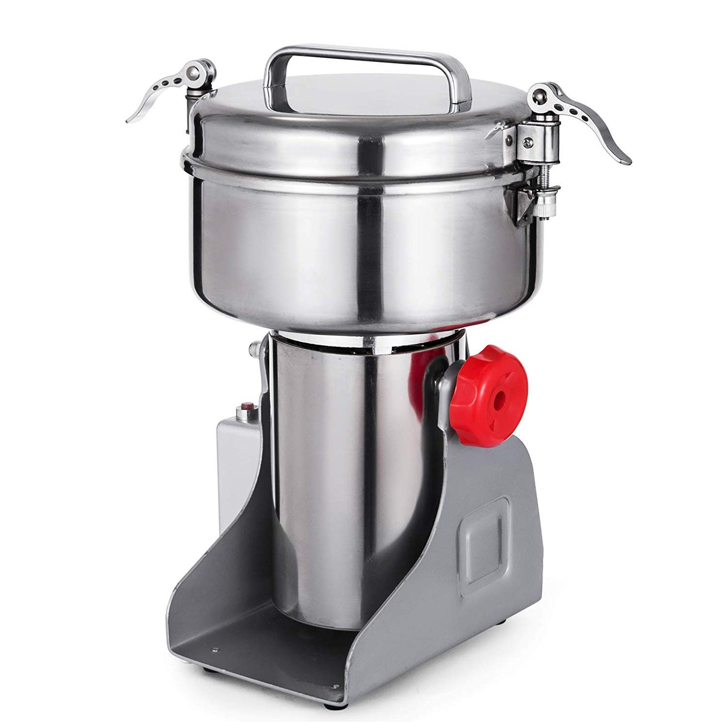 Mophorn 2000g Electric Grain Mill Grinder Powder Machine 4000W 50-300 Mesh Food Grade Stainless Steel for Kitchen Herb Spice Pepper Coffee by Mophorn