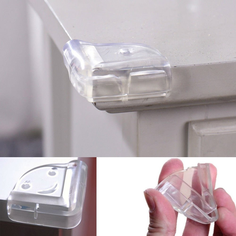 N@N 4x NEW CORNER PROTECTOR L-SHAPE BABY CHILD SAFETY CUSHION TABLE DESK EDGE GUARD shower furniture corner guards N@N