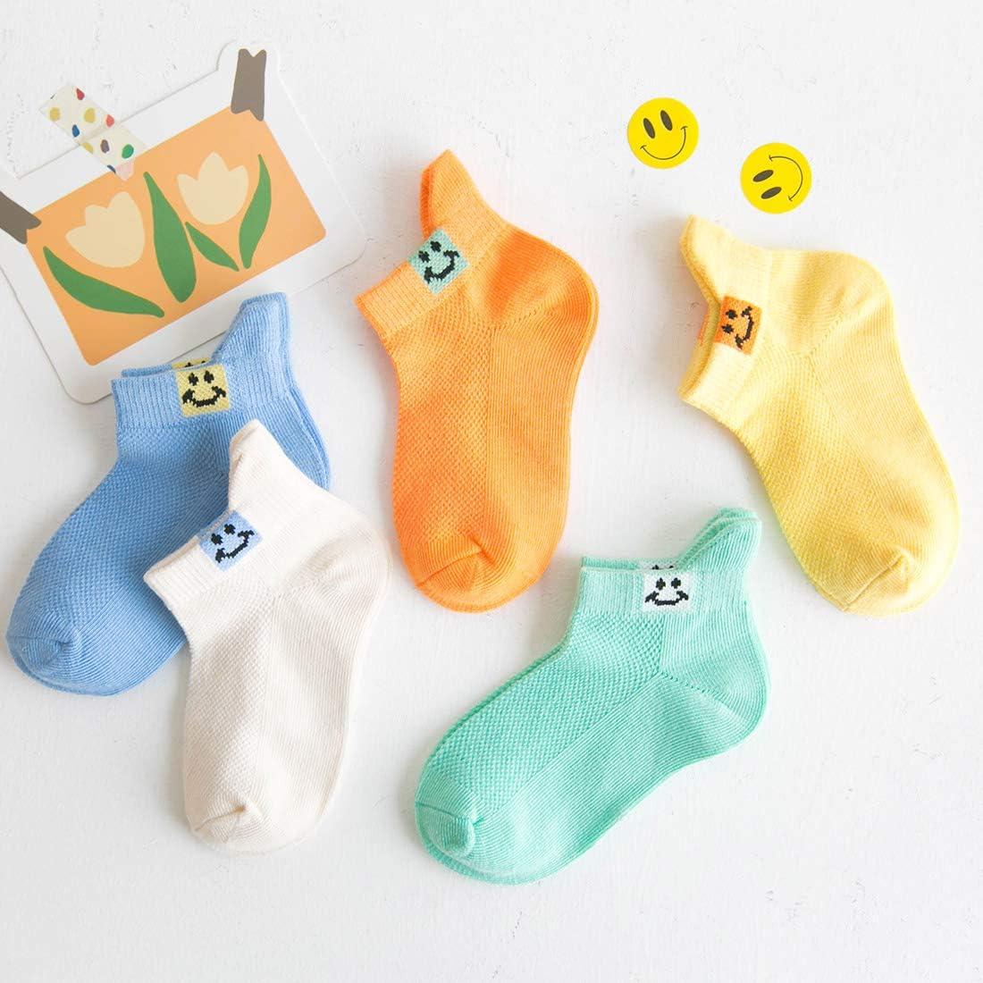 5 Paar weiche Baumwollsocken f/ür den Fr/ühling und Sommer Happy Cherry Socken f/ür Babys von 1 bis 12 Jahren