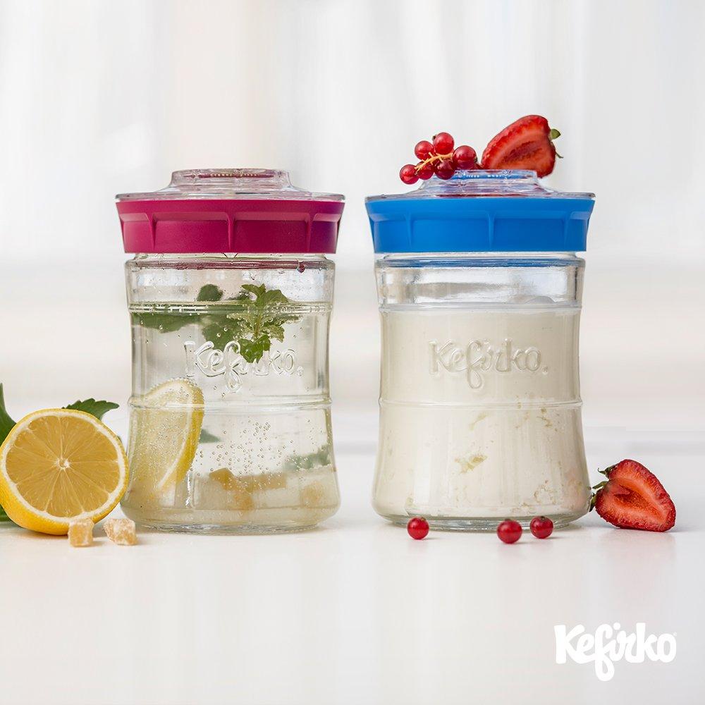 Kit rosa para fazer kefir 848 ml da Kefirko Rosa