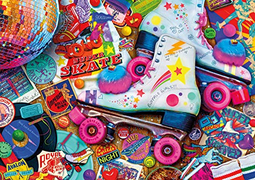 Buffalo Games - Vivid Collection - Aimee Stewart - Skate Night - 300 Large Piece Jigsaw Puzzle