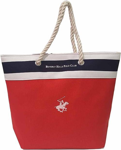 Beverly Hills Polo Club - Bolso al hombro para mujer Rojo rojo ...