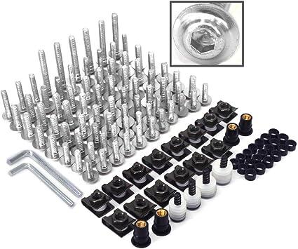 CNC Kit complet de boulons universels en aluminium usin/é par machine-outil /à commande pour carrosserie de moto Suzuki