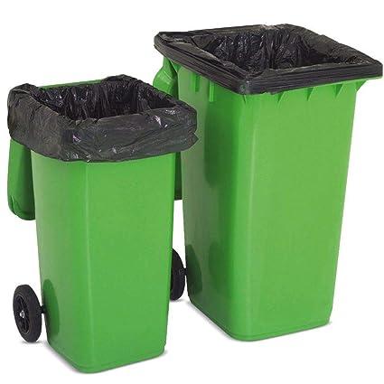 Contenedor de basura Abbey con ruedas / bolsas / bolsas de basura para basura en un