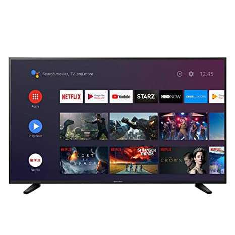 "Sharp 55"" Class 4K LC-55Q7530 Ultra HD (2160P) Android Smart LED TV with  Dolby Vision HDR (Renewed)"