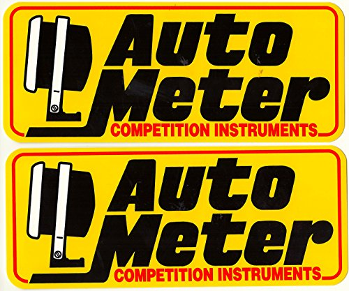 Auto Meter Racing Decals Stickers 8 Inches Long Size Set of ()