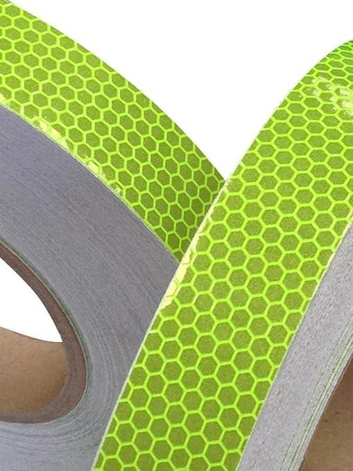 3 opinioni per Nastro Adesivo Alta Visibilità Riflettente Colore Lime 25mm x 5m