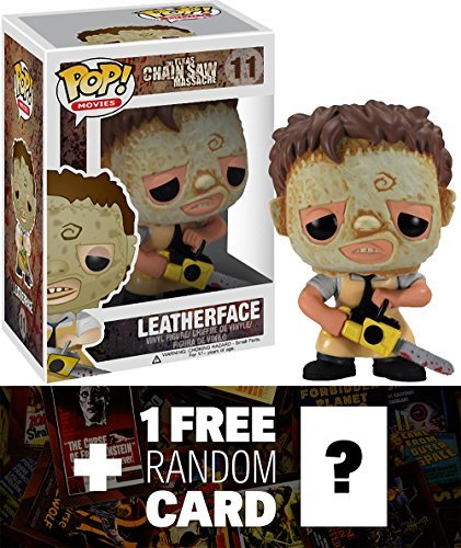Leatherface: Funko POP! Horror Movies x Texas Chainsaw Massacre Vinyl Figure + 1 FREE Classic Sci-fi & Horror Movies Trading Card Bundle [27616]