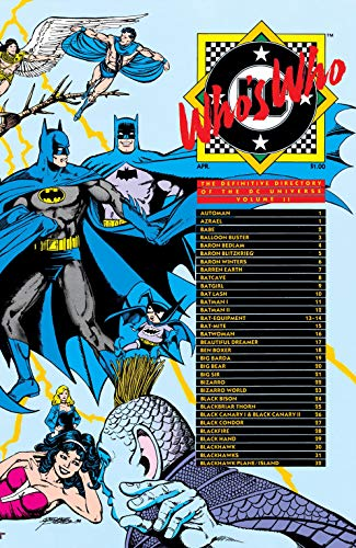 Who/'s Who Definitive Directory of DC Universe 1985 series # 16 very fine comic