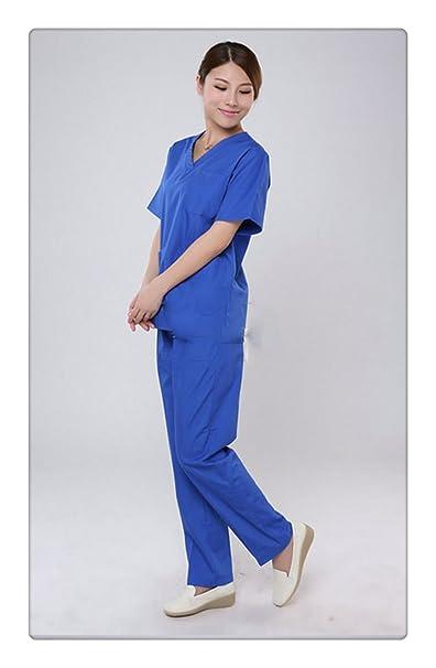 Mujer Trajes Uniforme Médico funcionamiento de habitaciones batas quirúrgicas (XL)