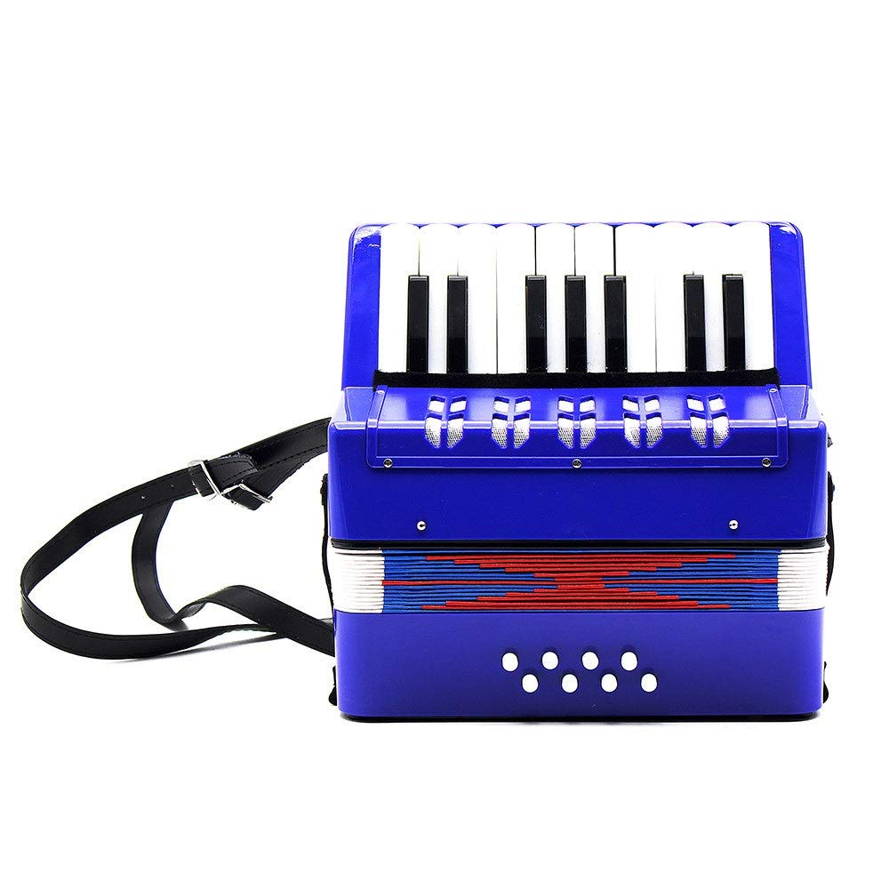 Accordion Solo and Ensemble Kids Piano Accordion 17 Keys 8 Bass with Straps Music Instruments for Beginners Students Small Size Educational Instrument Band Toy Children's Gift by Ybriefbag-Musical Instruments (Image #2)