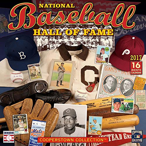 National Baseball Hall of Fame 2017 Wall Calendar