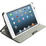 Acase Folio iPad Mini Case / Cover (Apple iPad Mini 7.9 inch Tablet) with Built-in Stand - Support Smart Cover Function for Mini iPad (Black)