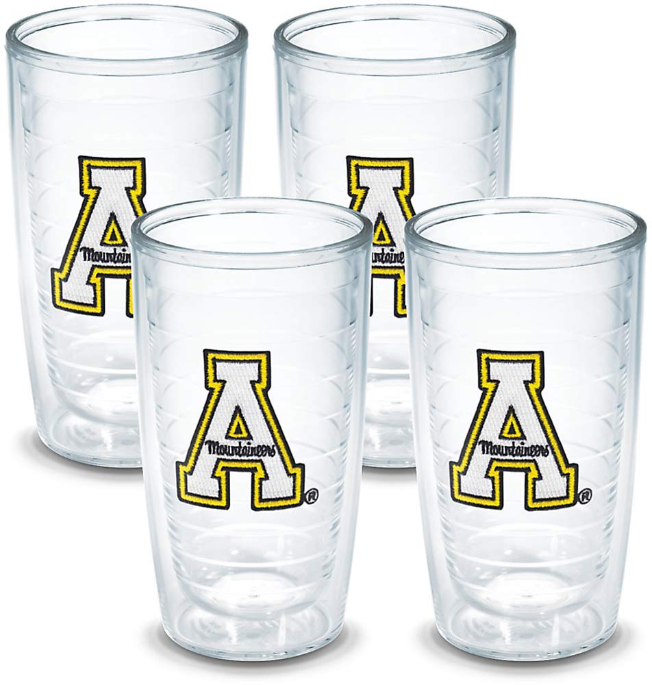 Tervis Tumbler Appalachian State 16-Ounce Double Wall Insulated Tumbler Set of 4