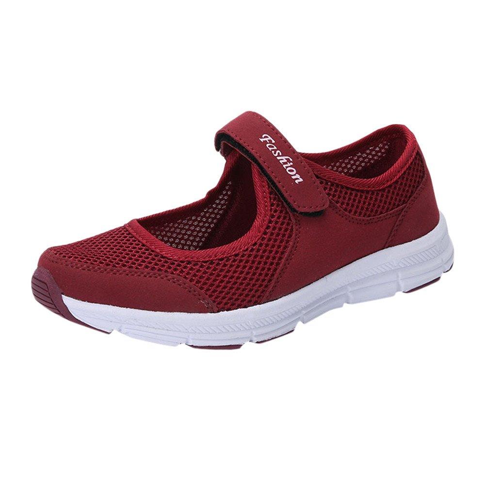 Women's Lightweight Sneakers Shoes, Jiayit Ladies Women Fashion Mesh Shoes Summer Sandals Anti Slip Fitness Running Sports Shoes