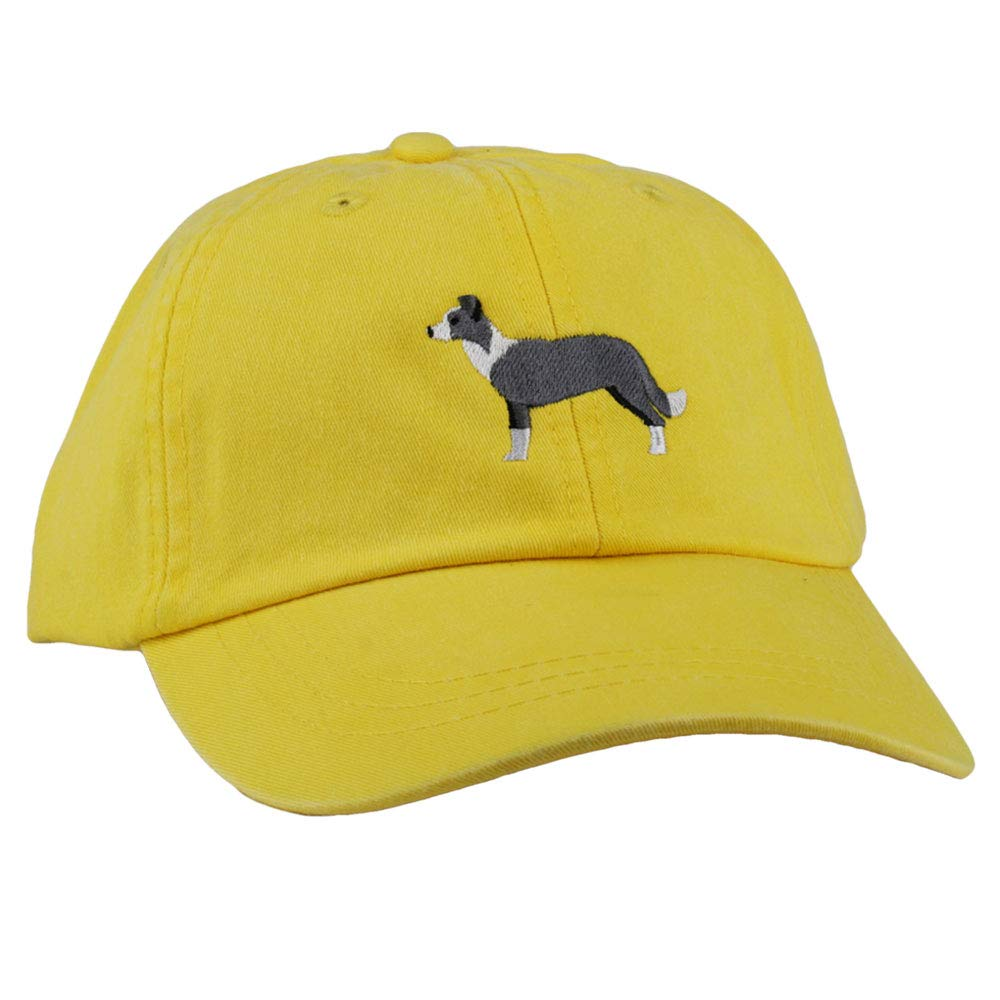 GoTags Custom Embroidered Dog Breed Baseball Hats, Trucker Caps and Soft Cotton Twill Dad Hats, a Paw-Some Gift for Pet Parents Everywhere (Border Collie, Dad Hat (One Size) by GoTags