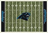 Carolina Panthers NFL Team Home Field Area Rug by Milliken, 7'8'' x 10'9'', Multicolored