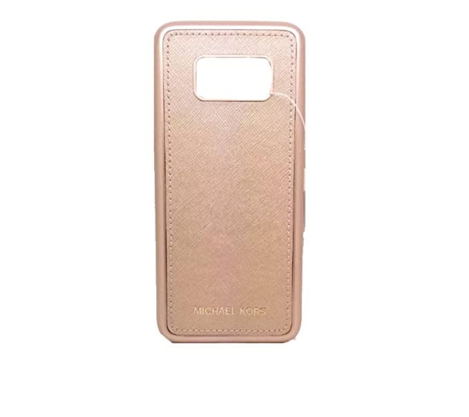 best website 50134 54938 Amazon.com: Michael Kors Leather Samsung S8 Snap-On Case, Rose Gold ...