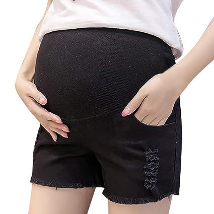 d7b7d1f499a03 Amazon.com: Women Maternity Jeans Shorts Pregnancy Pants Denim Maternity  Clothes Short Pants Summer Care Belly Shorts: Appliances