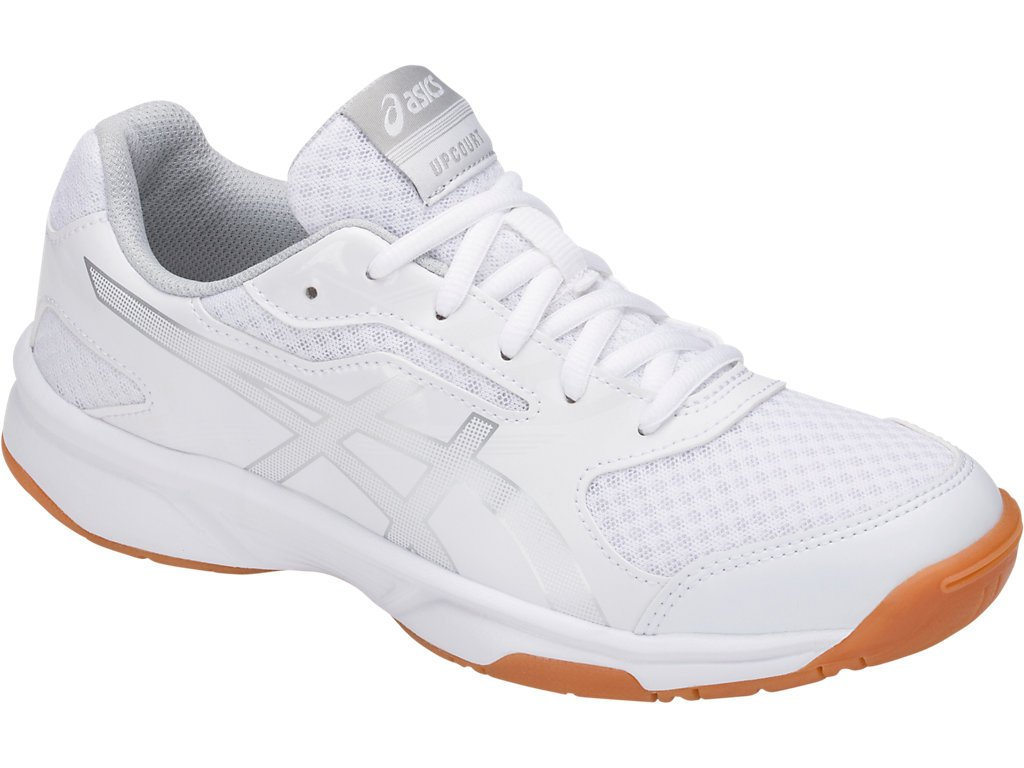 ASICS Men's Upcourt 2 Volleyball Shoe - B705Y.0193 (White/Silver - 15)