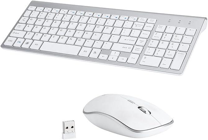Zeerkeer Combo Teclado y Ratón inalámbrico para Windows, Conexión 2,4 GHz, Ratón Inalámbrico Compacto: Amazon.es: Electrónica