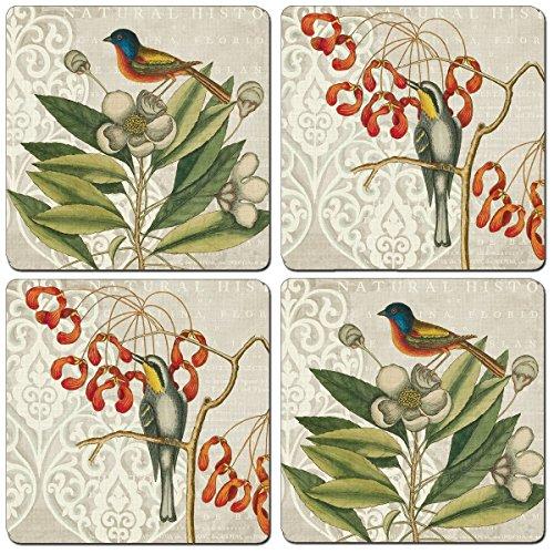 Cala Home Set of 4 Catesby Bird Coasters 12653