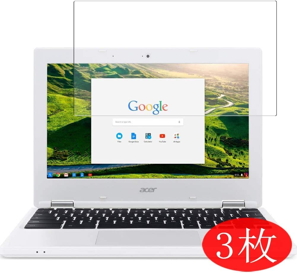 "【3 Pack】 Synvy Screen Protector for Acer Chromebook 11 CB3-131-C3SZ 11.6"" TPU Flexible HD Clear Case-Friendly Film Protective Protectors [Not Tempered Glass]"