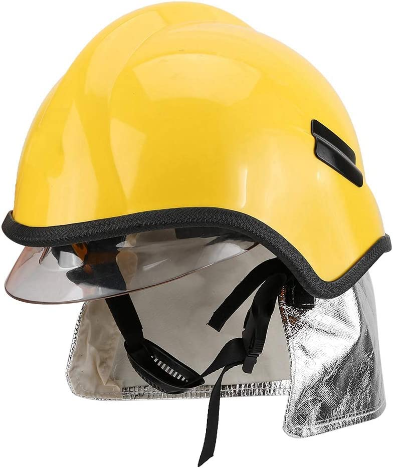 Electric Shock Resistance and Flame Retardant Tosuny Fireman Helmet Protective Rescue Helmet Firefighter Safety Helmet Anti-corrosion Radiation Heat Resisting High Penetration Resistance