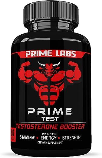 Prime Labs – 男士睾酮增强剂 – 天然耐力,耐力和力量增强剂 – 60 粒