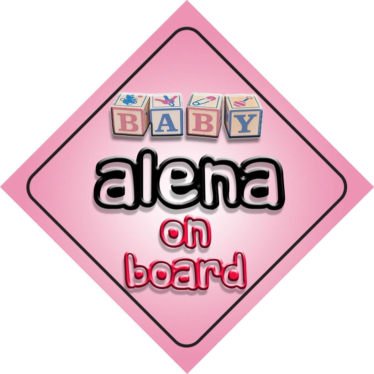 B/éb/é Fille Alena on Board fantaisie Panneau de voiture Cadeau//cadeau pour nouveau//enfant nouveau-n/é