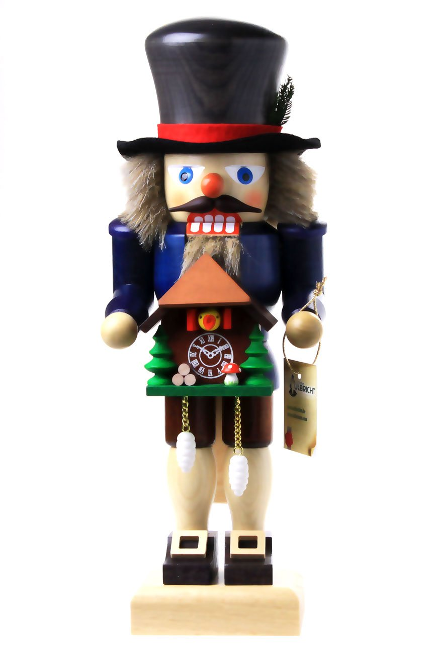 Ulbricht Nutcracker Black Forest Fellow with Cuckoo Clock 10.60 inches 32661