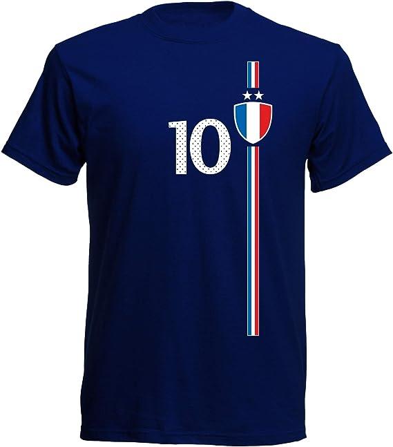 Camiseta para niños de la selección francesa del mundial de fútbol de la temporada 2017, diseño de la temporada St-1 azul 104: Amazon.es: Ropa y accesorios
