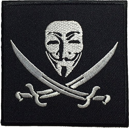 Pirate Flag Anonymous Mask Sew on Iron on