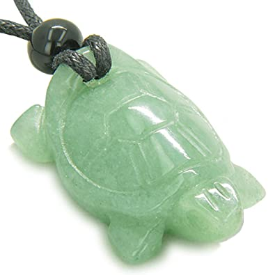 c951f735c85582 Amazon.com  Amulet Lucky Charm Turtle Green Quartz Good Luck Powers ...