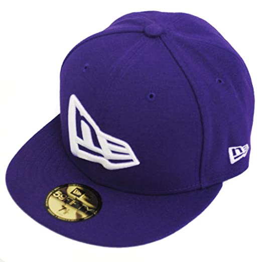 8f594c9cb9d New Era 59fifty Flag Flat Peak Fitted Navy Black Grey Purple Hat Cap at  Amazon Men s Clothing store