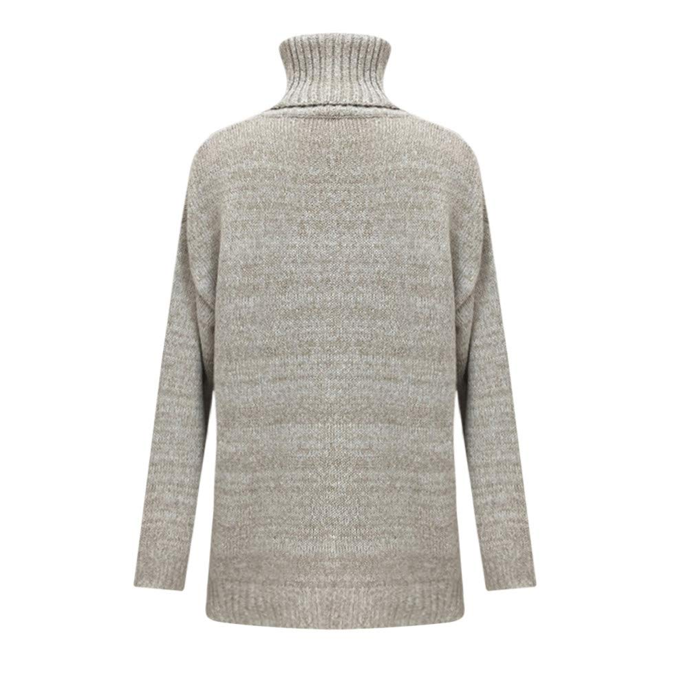Mujer Suéter blusa suelto Cuello alto,Sonnena ❤ Suéter para mujer fuera del hombro Tops sueltos de punto ocasionales Camisetas de manga larga: Amazon.es: ...