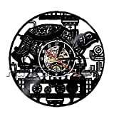 The Geeky Days Steampunk Turtle Wall Clock Steampunk Sea Turtle Vintage Ornament Gear Vinyl Record Clock Animal Lovers Decorative Clock (Without LED)