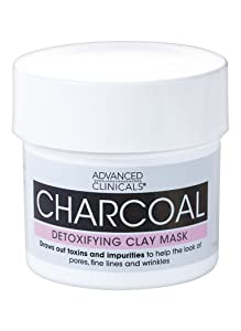 Advanced Clinicals Charcoal Detoxifying Mask with Rose Water to help improve the look of pores, fine lines and wrinkles. Supersize 5.5oz.