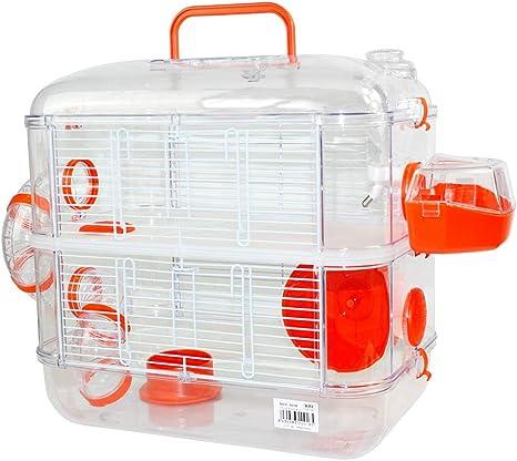 Jaulas para Hamster de plástico Duro, Jaula de Hamster L 2 Pisos ...