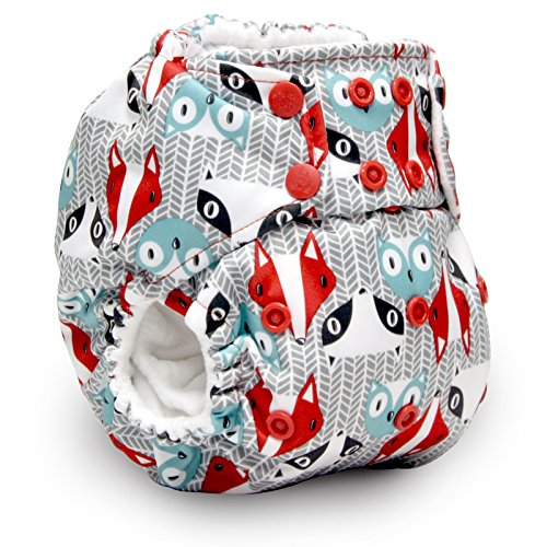 Rumparooz One Size Cloth Pocket Diaper Snap, Peacock C4022SP
