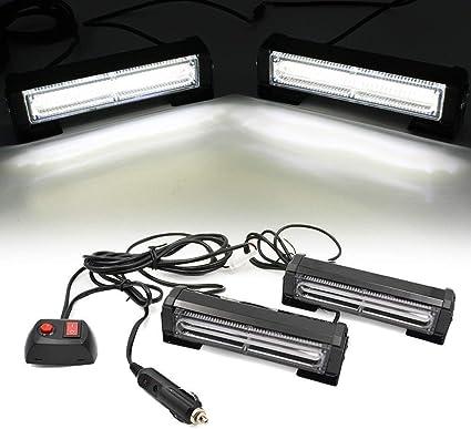 Triclicks 12V COB LED Feux de P/én/étration Lumi/ère Stroboscopique Voiture Fixation /à vis 9 Modes Auto Flash Lampe Clignotant Avertissement Urgence Secours Travaux V/éhicule Camions SUV