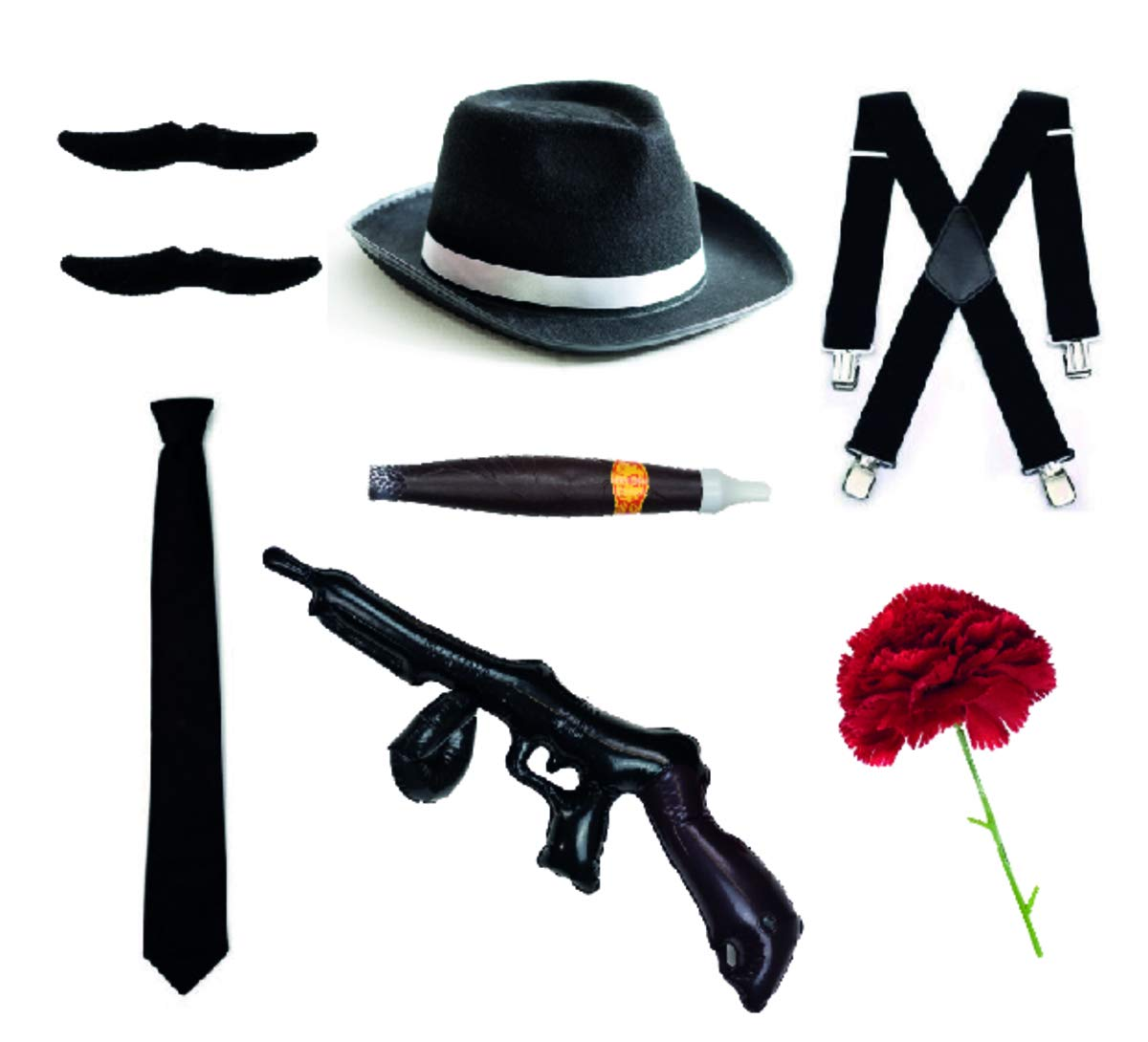Bodysocks Fancy Dress Gangster Set - Trilby sombrero, corbata ...