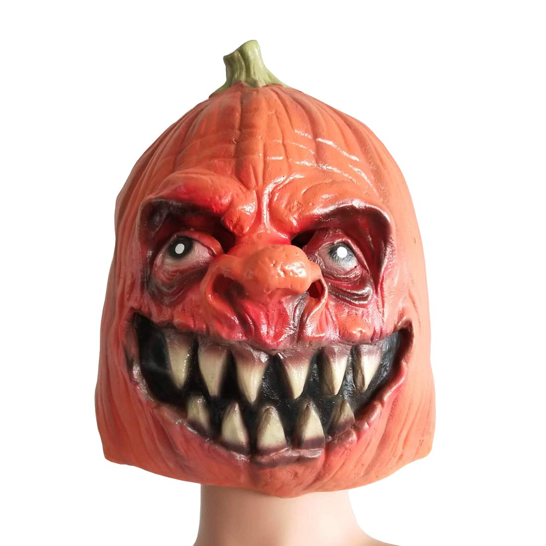 Pumpkin Mask Latex Scary Head Mask for Cosplay Masquerade Halloween